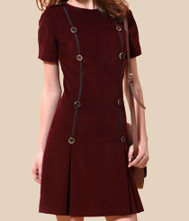 <p>Vestido <strong>Trussardi</strong>.</p>